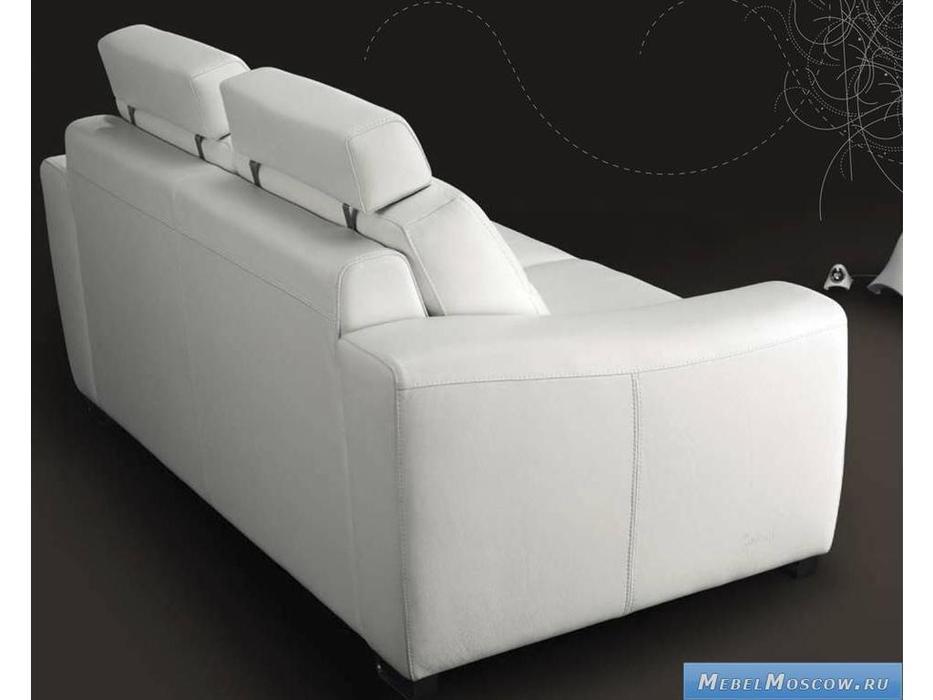 Luis Silva: Dublin: диван 3-х местный (белый) кожа