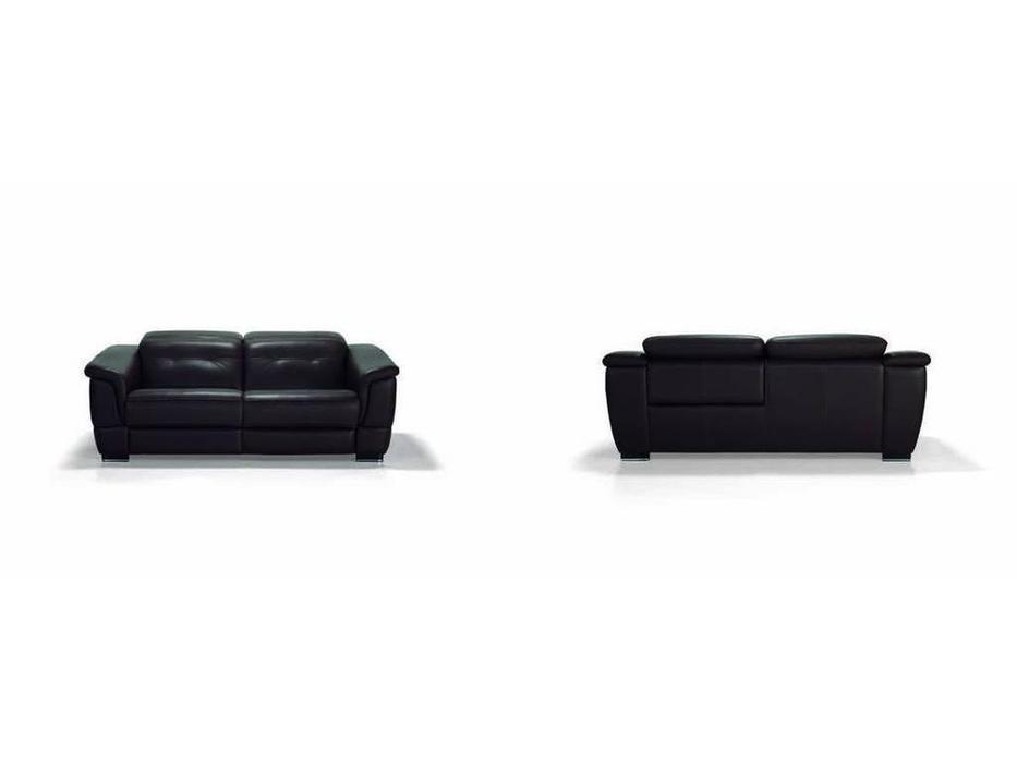 Luis Silva: Alpha: диван 3-х местный (черный) кожа