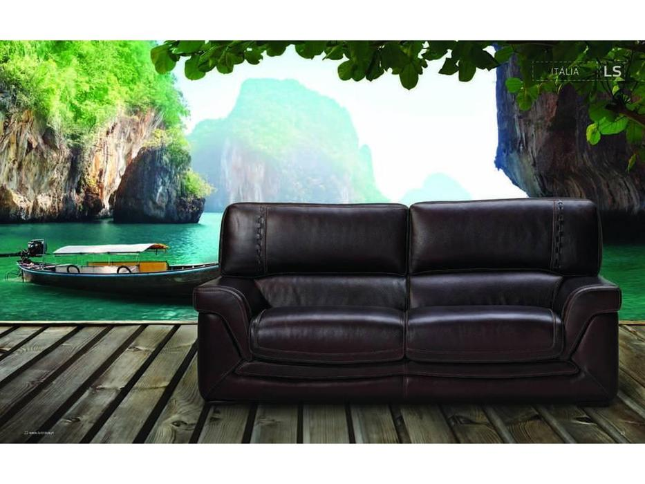 Luis Silva: Italia: диван 3-х местный (коричневый) кожа