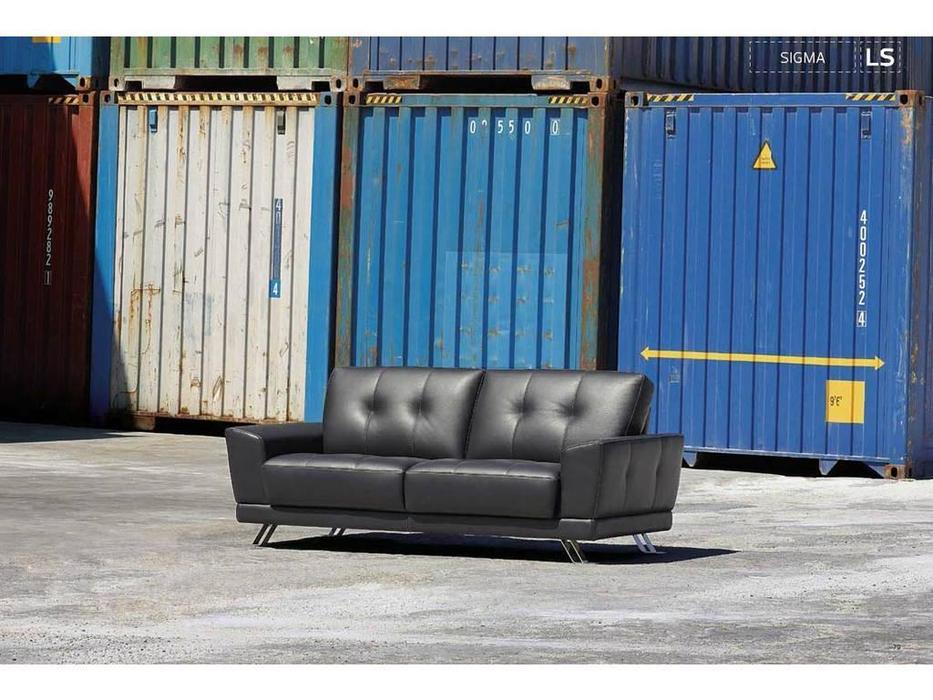 Luis Silva: Sigma: диван 3-х местный (черный) кожа