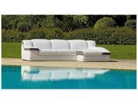 Luis Silva: Zeta: диван угловой (белый, серый) кожа