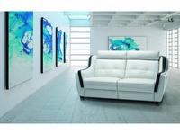 Luis Silva: Gama: диван 3-х местный (белый) кожа