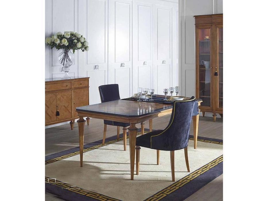 AM Classic: Canova: стол обеденный  раскладной (Amber groseado, Black)