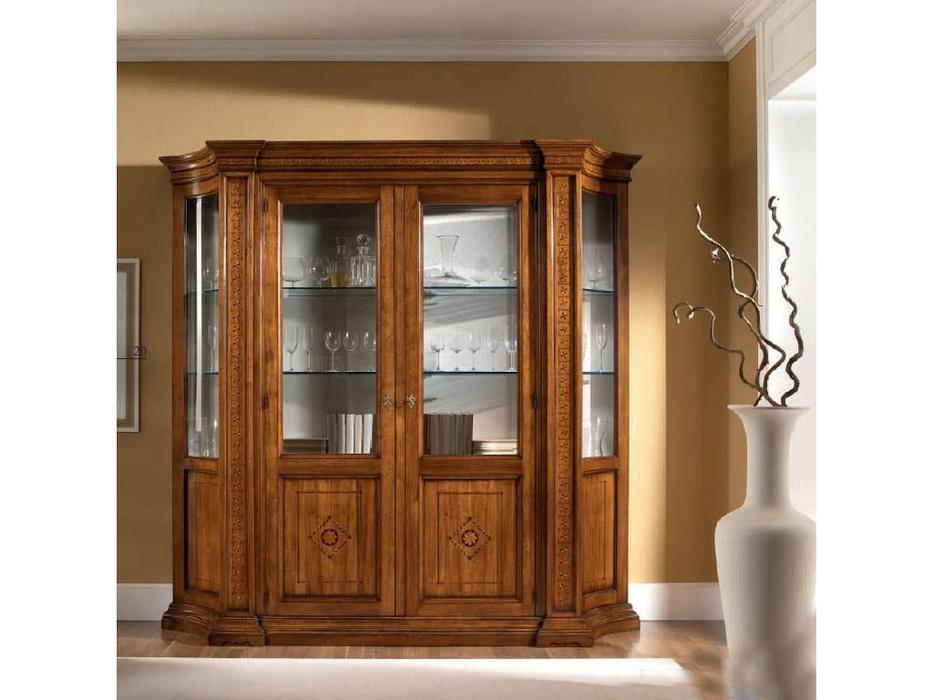 Rudiana Interiors: Accademia: витрина 2 дверная  (орех)
