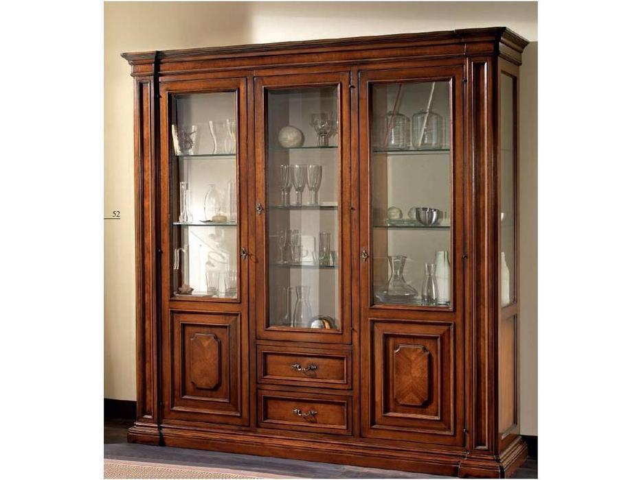 Rudiana Interiors: Accademia: витрина 3 дверная  (орех)