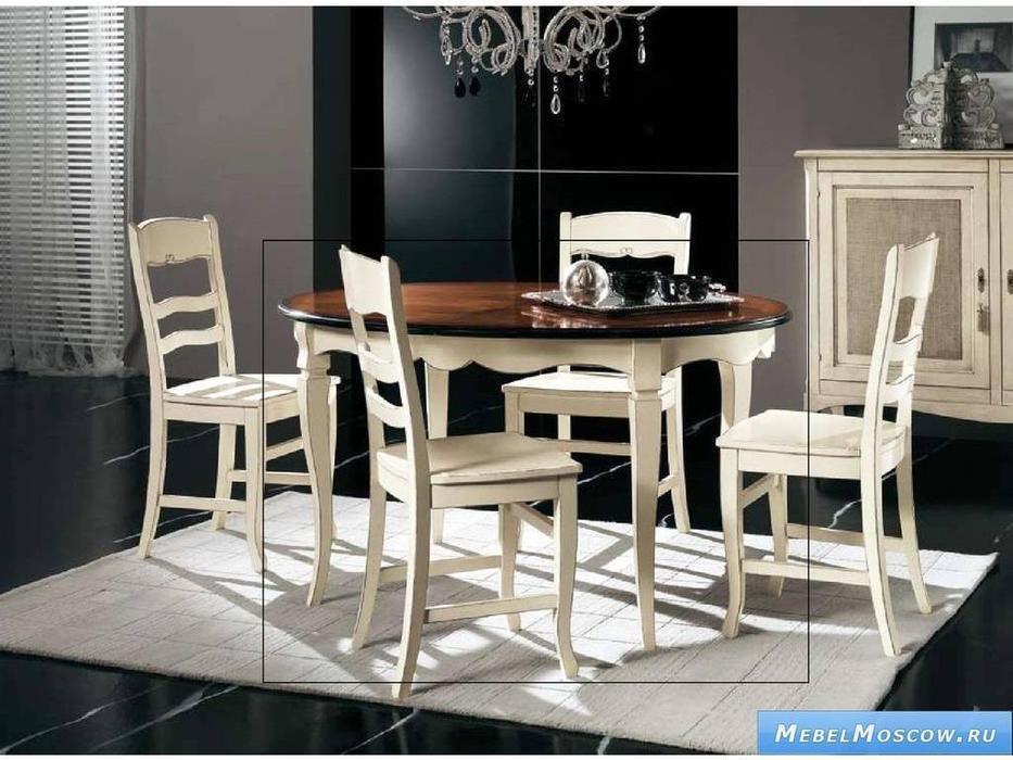 V. Villanova: Infinity: стол обеденный раскладной  (Bianco+cilegio)