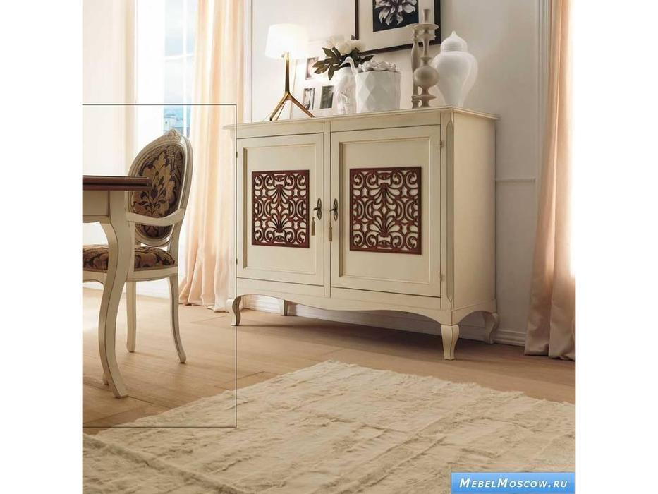 V. Villanova: Капри: стул с подлокотниками обитый тканью  (Bianco madeira)