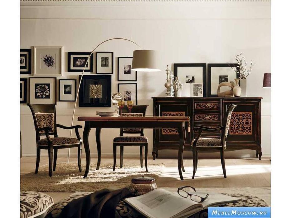 V. Villanova: Капри: стул с подлокотниками обитый тканью  (Moka franceze)