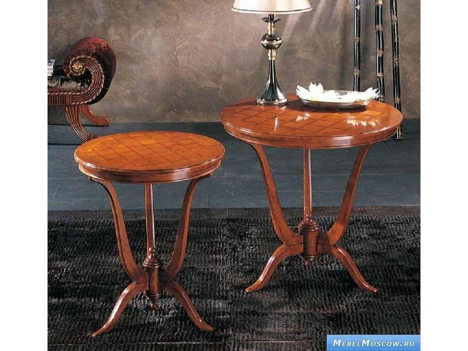 V. Villanova: Infinity: стол консольный  круглый 60х60 (ciliegio madeira)