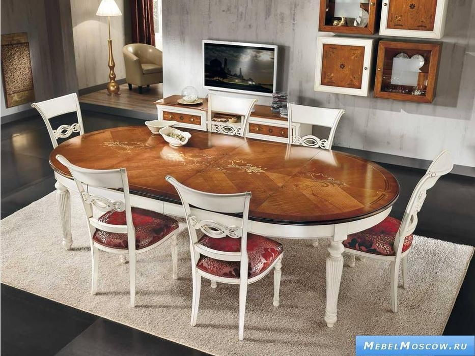 V. Villanova: стул сиденье обитое тканью  (bianco madeira)