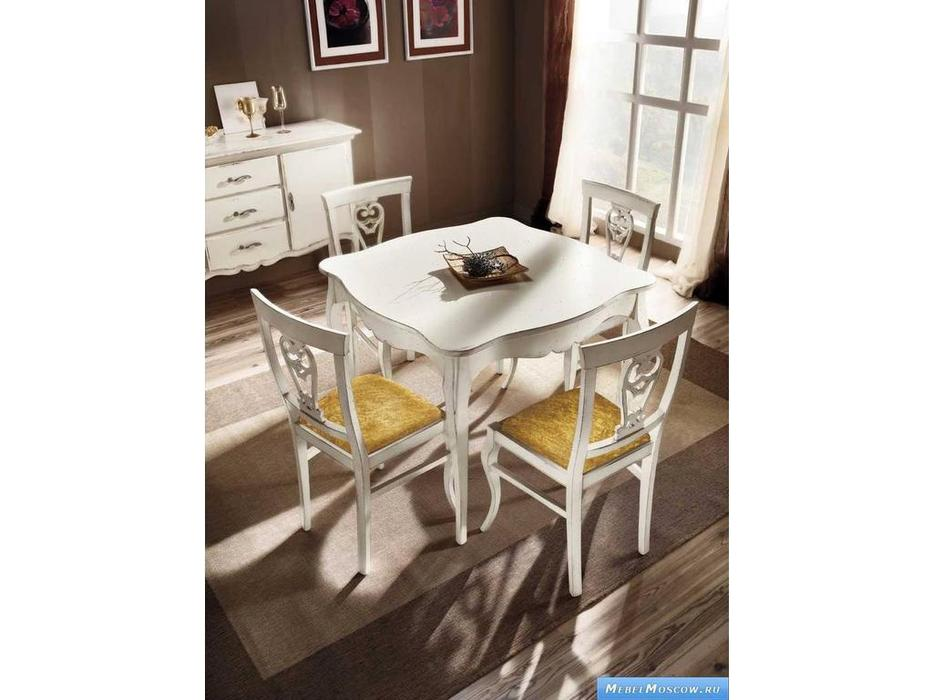 V. Villanova: стол обеденный квадратный 100х100  (bianco madeira)