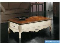 V. Villanova: Infinity: стол журнальный  прямоугольнный (bicolore(bianco+cilegio)