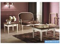 V. Villanova: Infinity: стол журнальный  квадратный со стеклом (bicolore(bianco+cilegio)