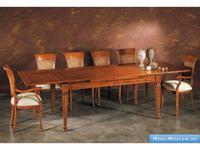 V. Villanova: стол обеденный  раскладной 110х110  (ciliegio madeira)