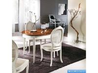 V. Villanova: стол обеденный овальный раскладной  (bianco +cilegio)