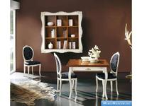 V. Villanova: стол обеденный раскладной квадратный 100х100  (bianco +cilegio)