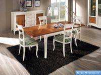 V. Villanova: стол обеденный прямоугольный 160х90 раскладной  (bianco+cil egio)