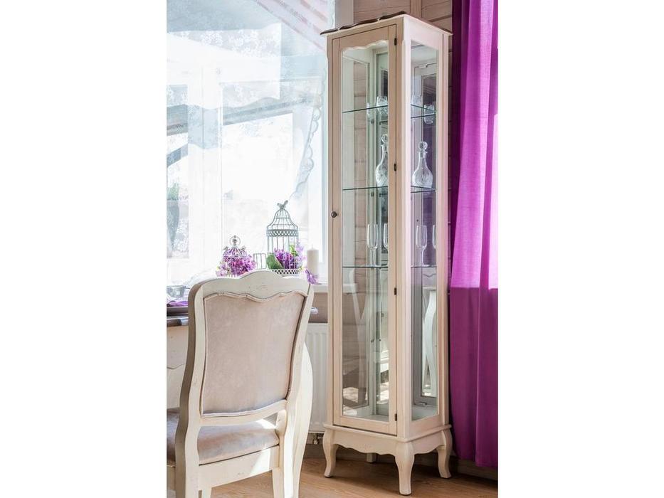 Mobilier de Maison: Belveder: витрина 1 дверная  (белая карамель)