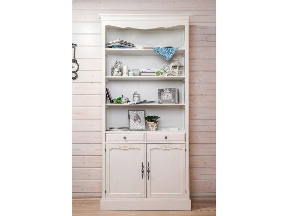 Mobilier de Maison: Belveder: шкаф книжный  (белая карамель)
