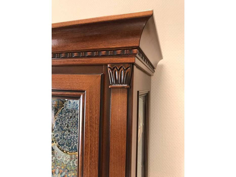 Liberty: Флоренция: витрина  2-х дверная с подсветкой (вишня)