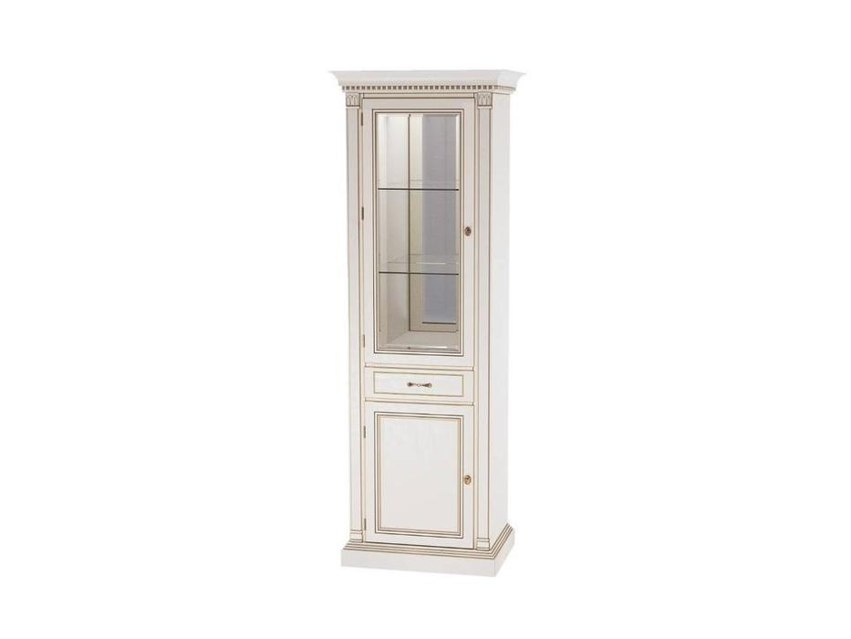 Liberty: Флоренция: витрина 1 дверная  с подсветкой левая (белая)
