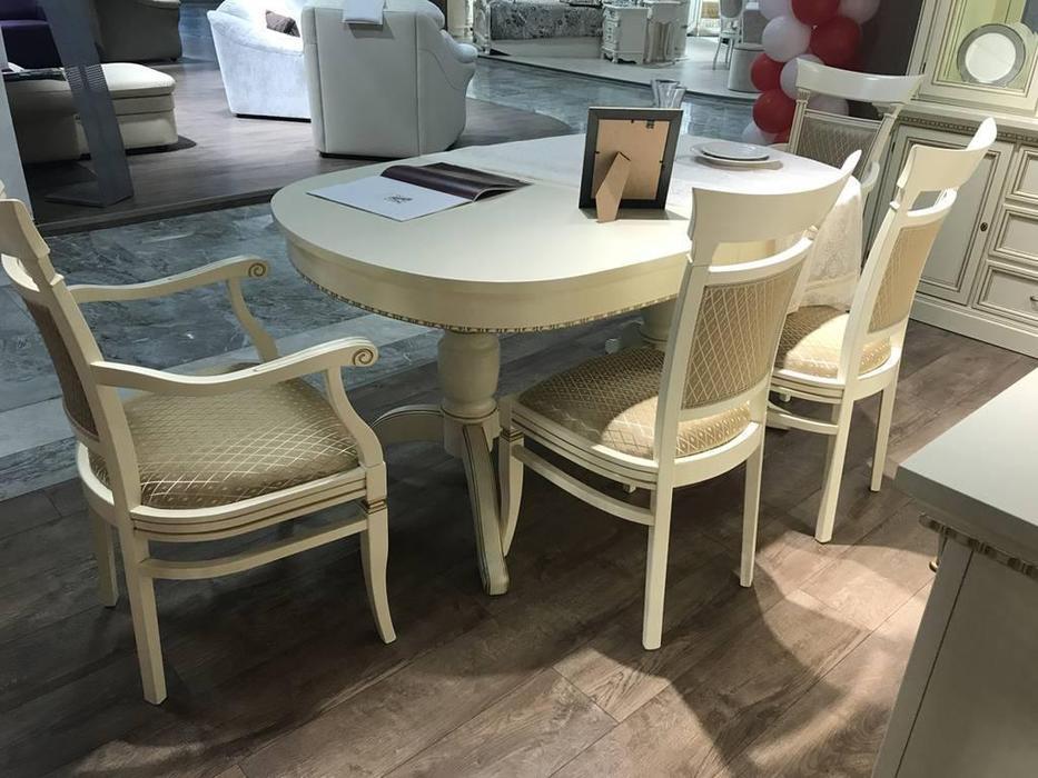 Liberty: Венеция: стол обеденный овальный раскладной 160/238  (белый)