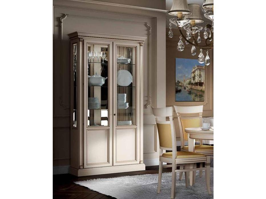 Свобода: Флоренция: витрина 2-х дверная  (слоновая кость, золото)