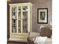 Liberty: Венеция: витрина  2-х дверная с подсветкой (белая)