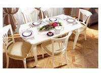 Свобода: Сильвия: стол обеденный  раскладной (белый ясень, золотая патина)