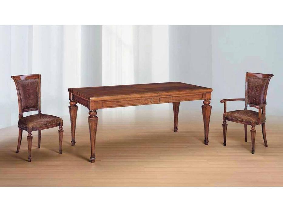 Morello Gianpaolo: Egeo: стол обеденный  (noce anticato)