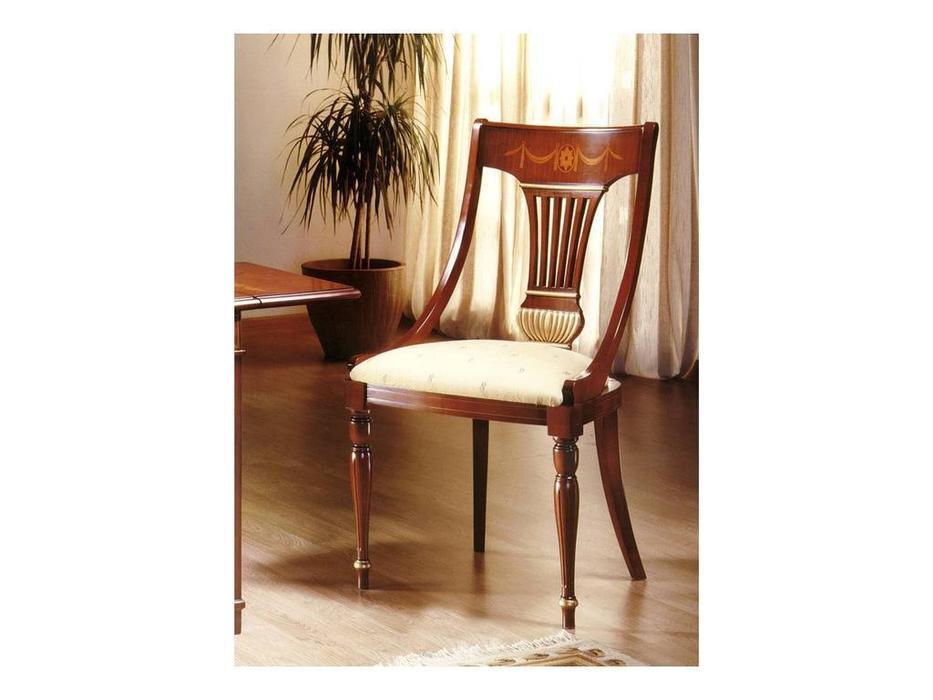 Solomando Соломандо: стул  ткань Kaluga Blanco (орех, золото)