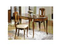 Solomando Соломандо: стул  ткань Kaluga Blanco (бежевый, орех, золото)