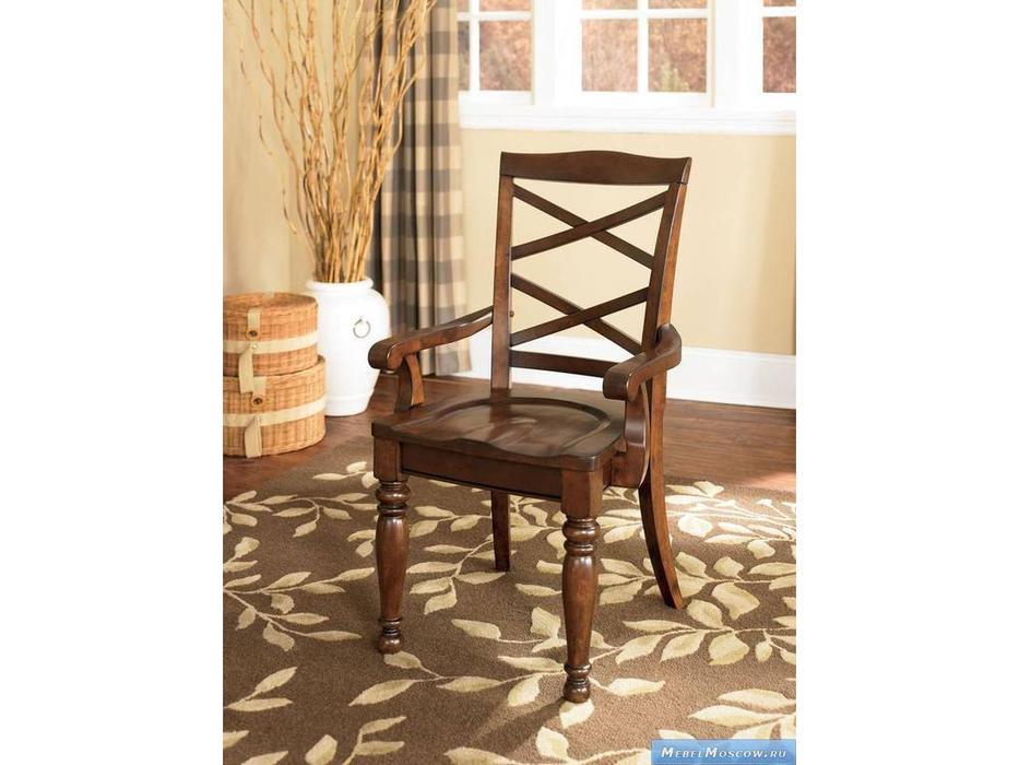 Ashley: Porter: стул с подлокотниками  (коричневый)