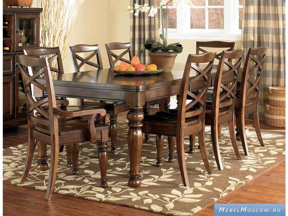 Ashley: Porter: стол обеденный  раскладной (коричневый)