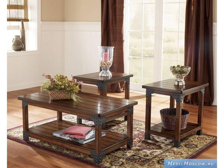 Ashley: Murphy: стол журнальный комплект  (коричневый)
