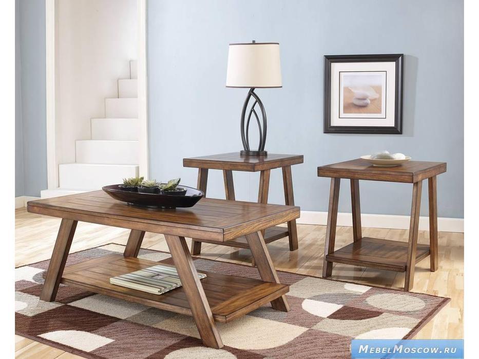 Ashley: Bradley: стол журнальный комплект  (коричневый)