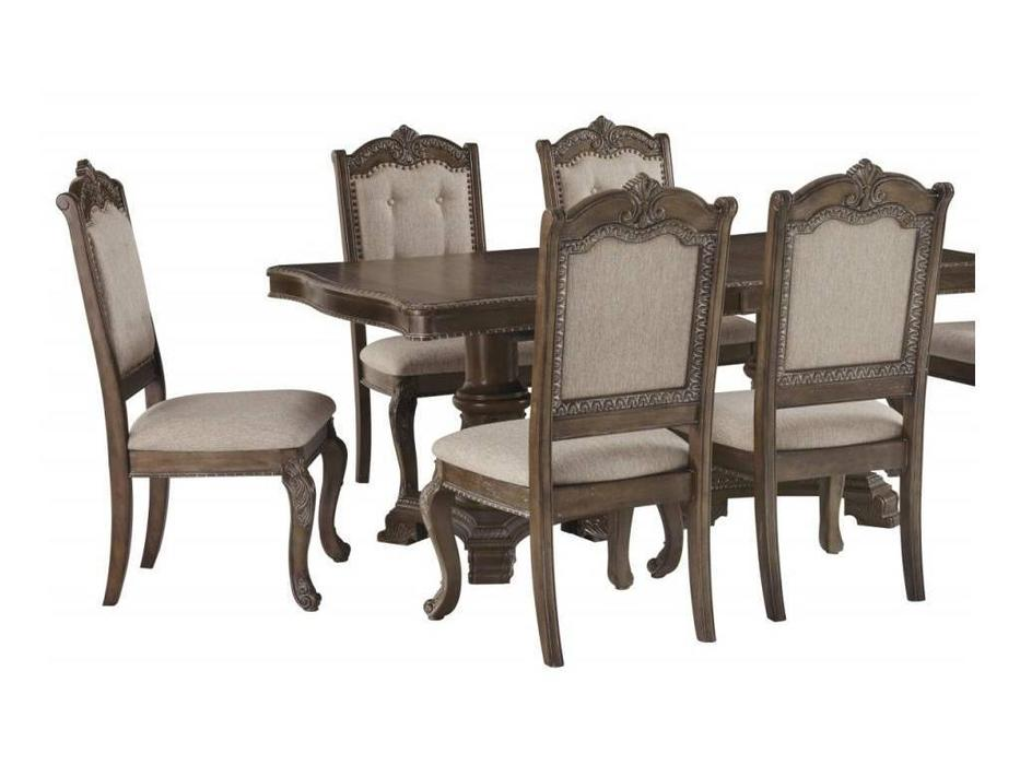 Ashley: Charmond: стул мягкий  (орех)