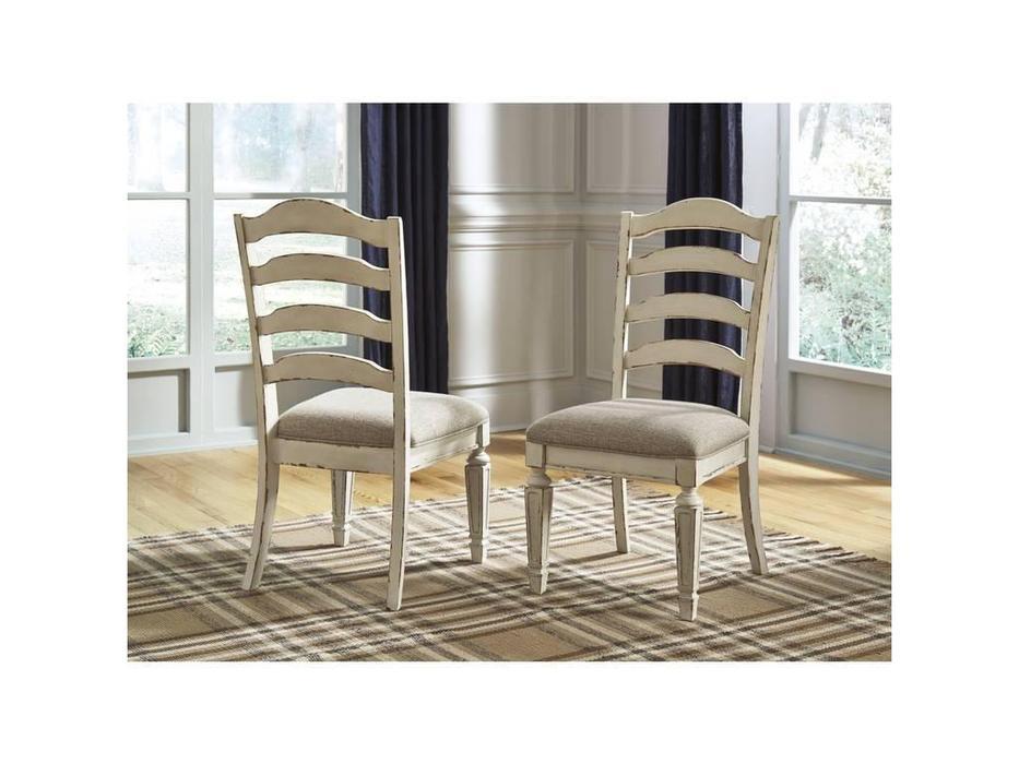 Ashley: Realyn: стул мягкий  (белый)