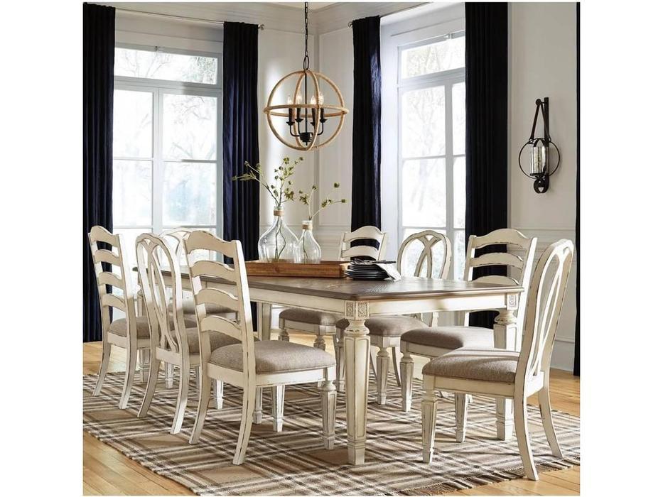 Ashley: Realyn: стол обеденный раскладной  (белый)