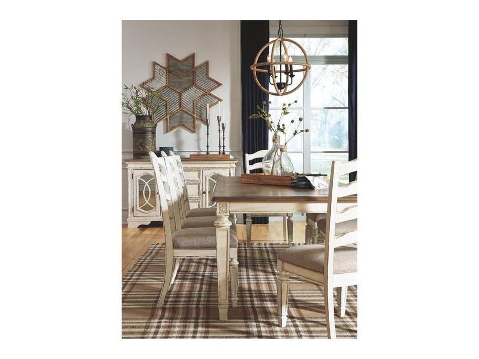 Ashley: Realyn: стол обеденный раскладной, высокий  (белый)