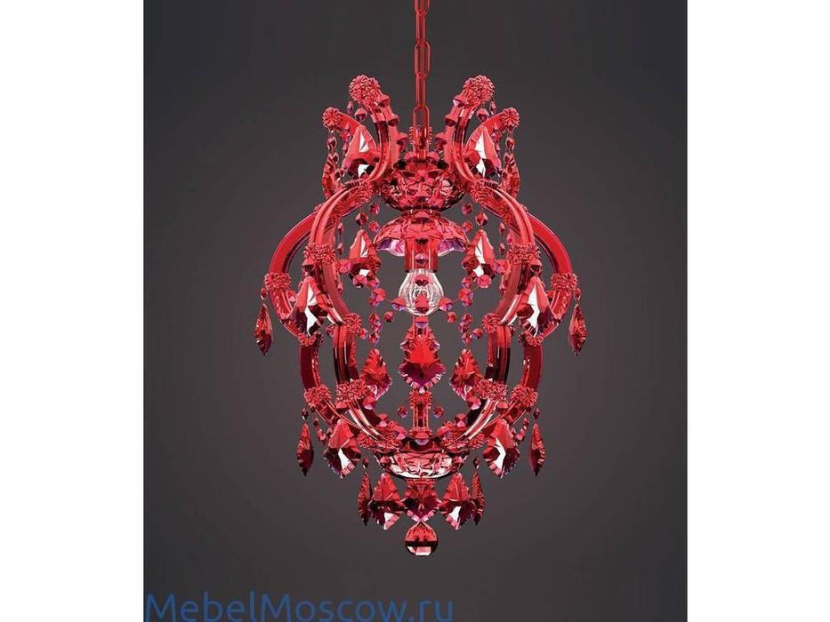 Masiero: Atelier: люстра подвесная  1×E27×60 W (красный, стекло)