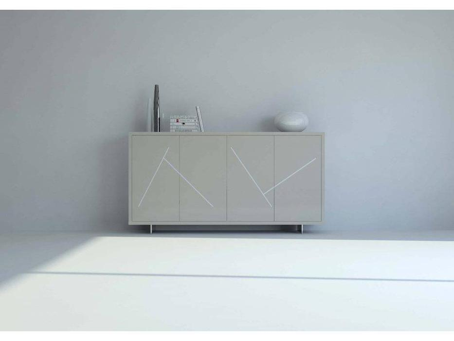 Mobax: Ilusion Home: прилавок  Minimal (бежево-серый лак)