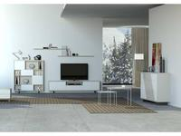 Mobax: Ilusion Home: стенка в гостиную  (белый, серый)