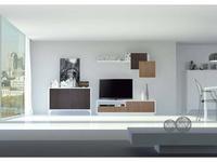 Mobax: Ilusion Home: стенка в гостиную  (белый, дуб)