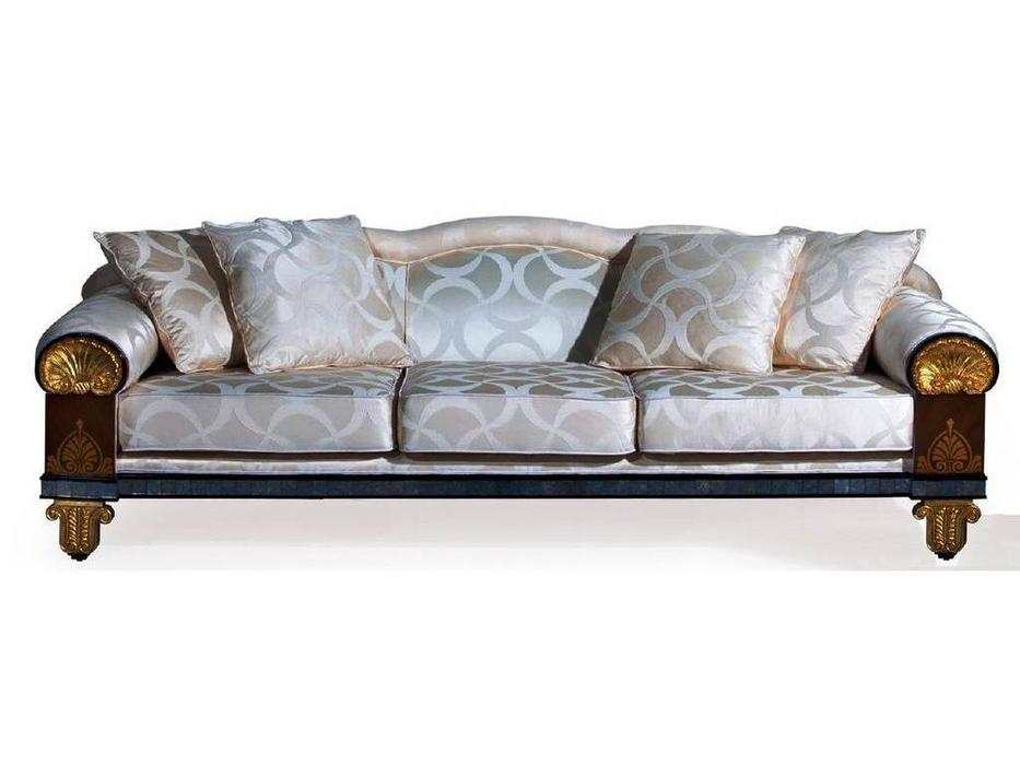 Epoca: Maxima collection: диван Chevalier  ткань (махагон,черный, золото)
