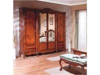 Simex: Regallis: шкаф 3 дверный с зеркалом  (орех, инкрустация)