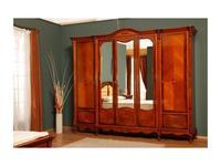 Simex: Regallis: шкаф 5 дверный с зеркалом  (орех, инкрустация)