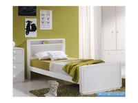 Artemader: Art-Deco: кровать 90х200  (белый)