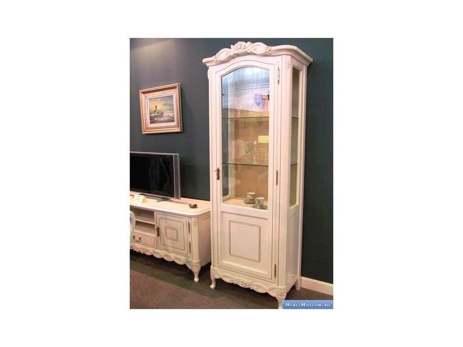Simex: Флора: витрина 1 дверная (слоновая кость)