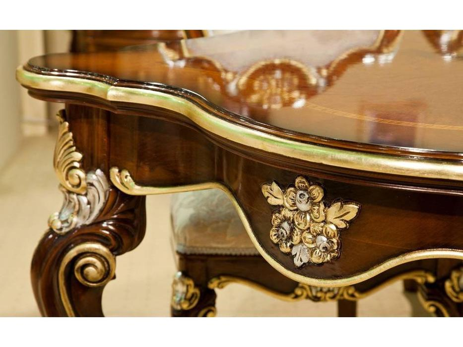 Nord Simex: Аркос: стол обеденный раскладной  (золото, серебро)